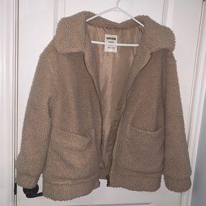 Brown teddy bear jacket